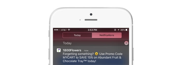 push notifications app marketing strategy abandoned cart