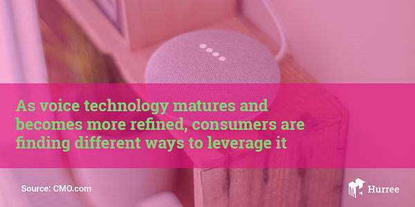Consumers find different ways to leverage voice technology