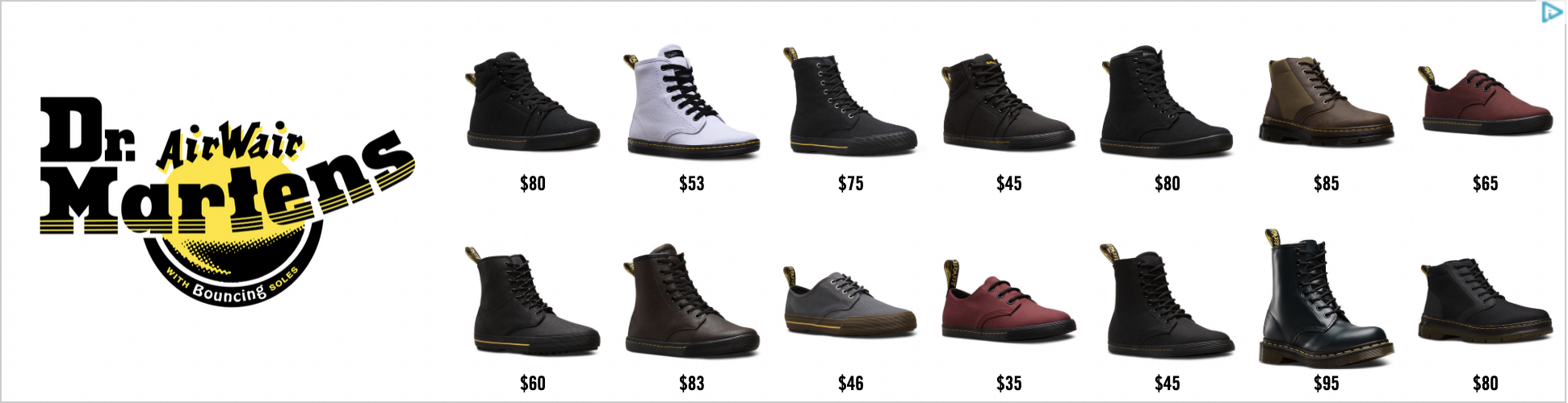 Facebook & Google Ads: How to get started with Remarketing [made easy]. Dr Martens Remarketing Display Ad. Hurree.
