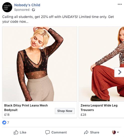 Facebook Native Advertising Personalisation marketing