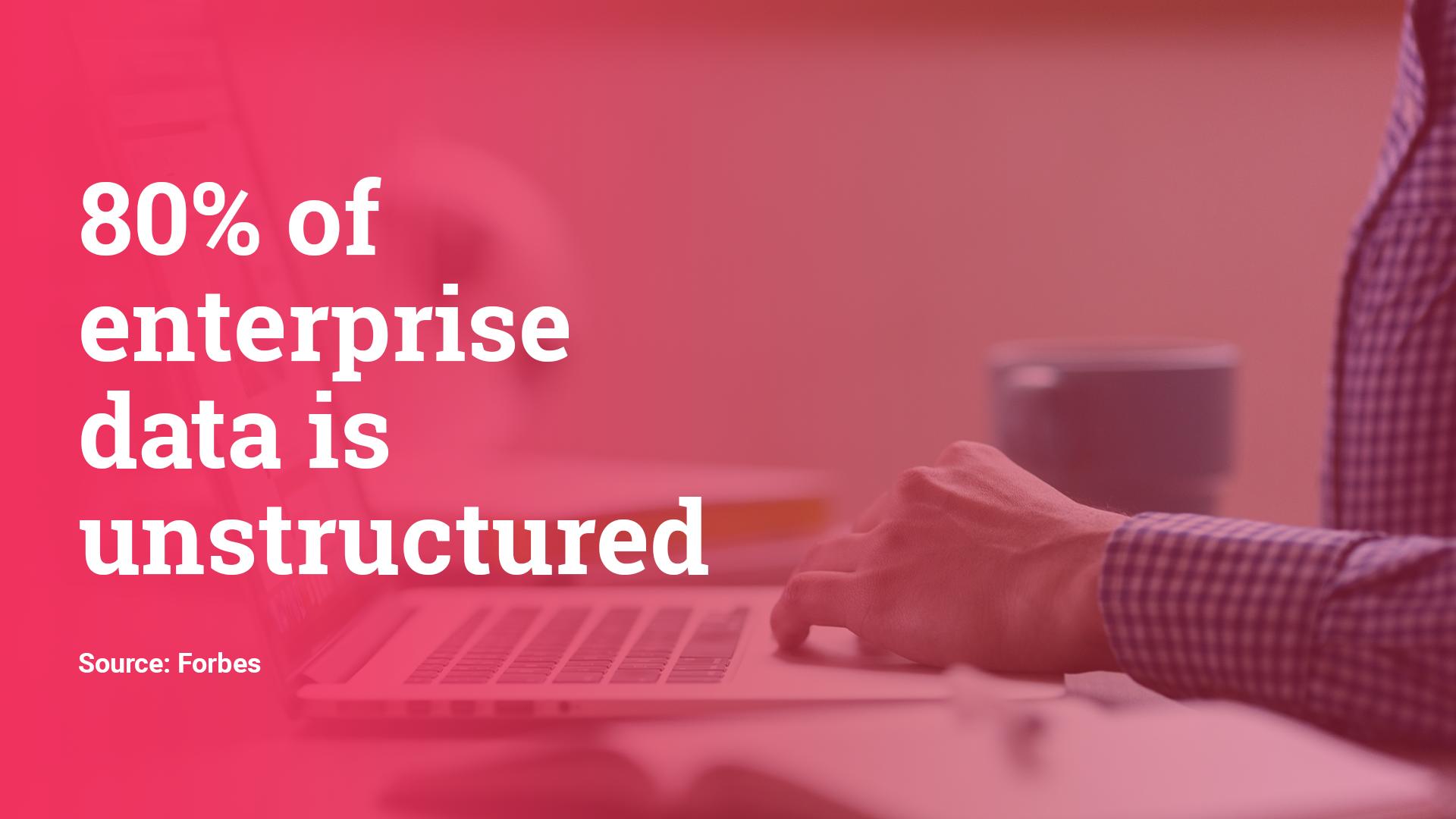 80% of enterprise data is unstructured. Hurree - The Segmentation Platform.