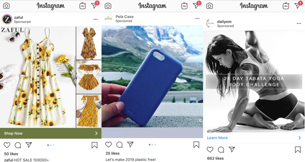 Example of an instagram ad. Hurree - The Segmentation Platform