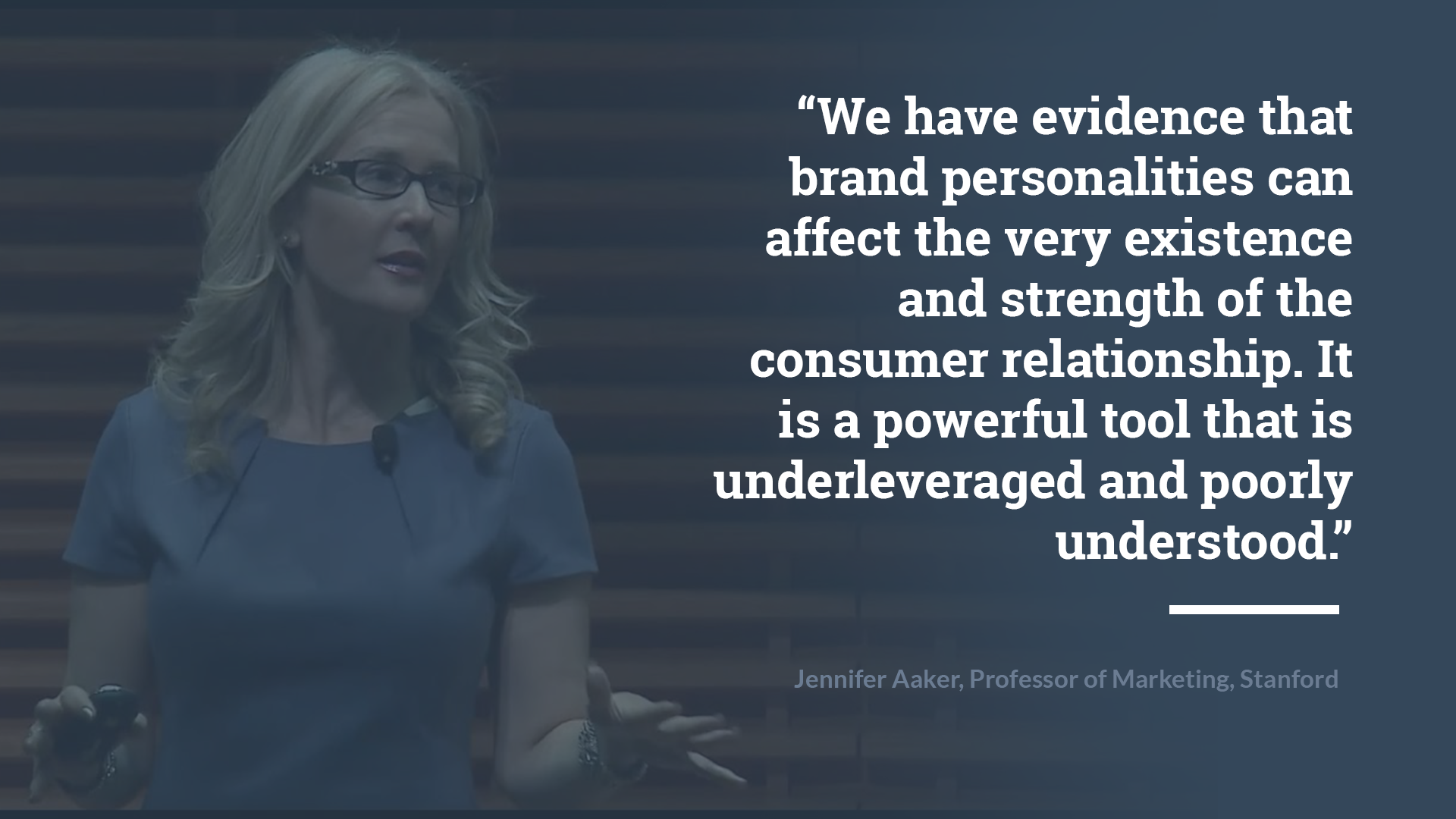 Quote by jennifer aaker: 'we have evidence that brand personalities can affect the very existence and strength of the consumer relationship. it is a powerful tool that is underleveraged and poorly understood'